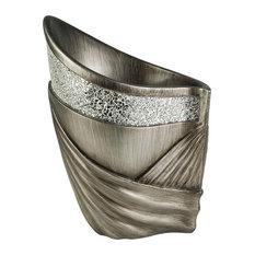 "14"" Silver Decorative Vase"
