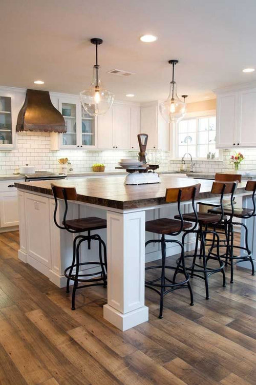 Kitchen Island Overhang For Side Seating How