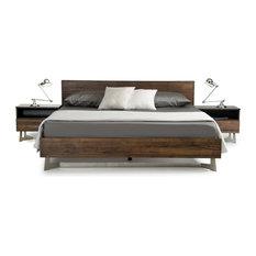 Modrest Wharton Dark Aged Oak Bed, Eastern King