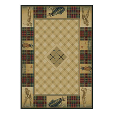 "Novelty Natural Rug, 1' 10""x3', Genesis Classic Open"