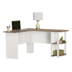 altra furniture altra furniture dakota l shape desk white and sonoma oak desks