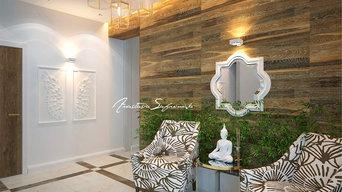 Дизайн интерьера первого этажа дома под Чебаркулем