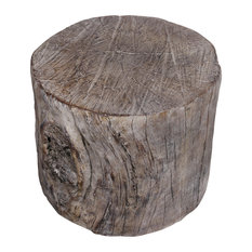 Round Tree Stump Ottoman or Stool in Natural