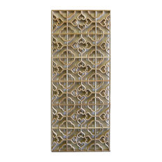 Rectangular Plain Wood Geometric Pattern Wall Panel