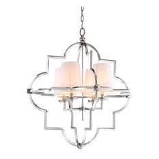 Eichholtz Mandeville Nickel Chandelier, Large