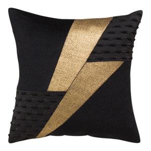 Boris Lightning Bolt Scatter Cushion, Gold and Black