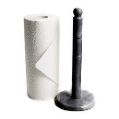 Black Marble Paper Towel Holder