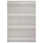 Safavieh - Safavieh Global Area Rug, GLB875, Gray and Ivory, 8'x10' - Boho-chic style goes indoor-outdoor with the all-weather rugs of the Global Collection. Evocative motifs are displayed in subtle raised-textures and colored in warm, neutral hues, elevating the ambiance of busy living spaces indoors or out. Global rugs are made using durable synthetic yarns to resist wear, weather, and fading from the sun season after season.