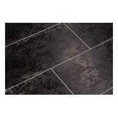 Elesgo Maxi V5 Tile Format Double Finish Laminate Floor, Black