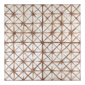 """17.63"""" x 17.63"""" Royals Cathedral Ceramic Floor and Wall Tile, Set of 5, Oxide"""