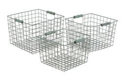 Blue Wire Baskets, Set of 3