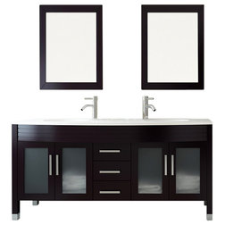 Elegant Contemporary Bathroom Vanities And Sink Consoles by BathGems