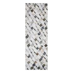 "Printed Maddox Area Rug by Loloi II, Gray/Mocha, 2'6""x7'6"""