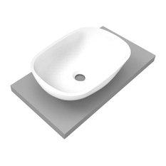 Oval Corian Bathroom Sink, 85 cm