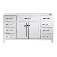 Caroline 60-inch Single Bathroom Vanity Cabinet White