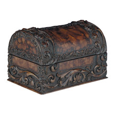 Carved Chest Domed Lid