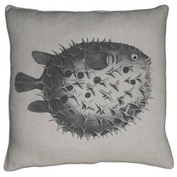 Inspirational Metal Wall Art Modern Abstract Suclpture Silver Fish Traditional Decorative Pillows by EuroLuxHome