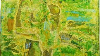 peinture, entre abstraction et figuration libre