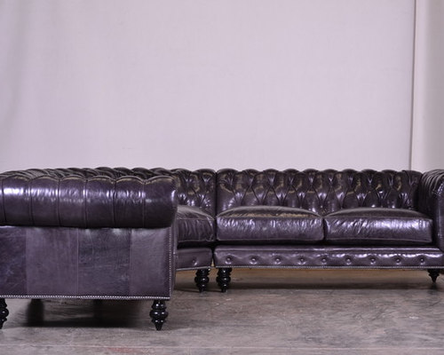 Chesterfield Sectional In Mont Blanc Galaxy   Sectional Sofas