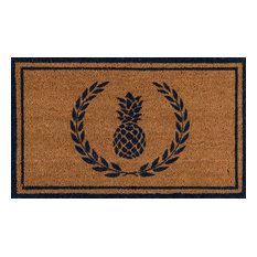 Erin Gates by Momeni Park Pineapple Navy Hand Woven Natural Coir Doormat