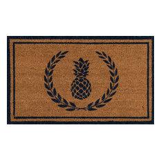 Erin Gates by Momeni Park Pineapple Navy Hand Woven Natural Coir Doormat
