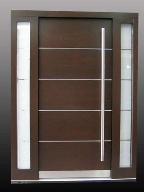 European Mahogany Wood Exterior Doors Custom Order
