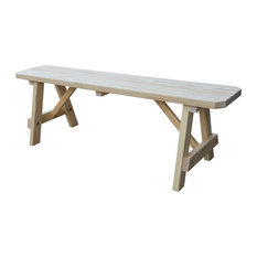 8' Pine Traditional Picnic Bench, Unfinished