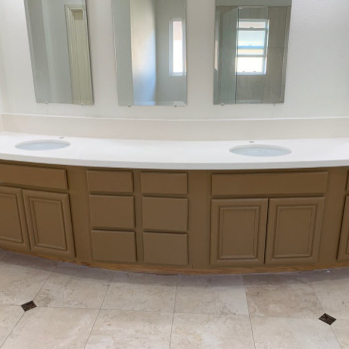 Anaheim Hills Quartz Bathroom Counter