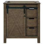 """Lexora - Marsyas 30"""" Vanity Cabinet Only, Rustic Brown - • Includes: Main Cabinet Only"""