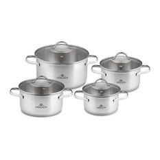VIVA Stainless Steel  Pot Set With Lids 8 pcs