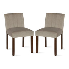 Damyan Channel Back Parsons Dining Chair Beige