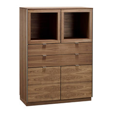 Skovby Mobelfabrik A/S Wooden Display Cabinet, Natural Oiled Walnut