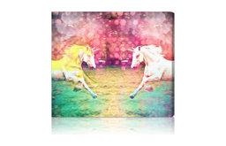 "Oliver Gal ""Unicorns Dusk"" Canvas Art Print"