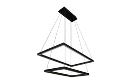 "29"" Led Chandelier, Adjustable Suspension Fixture, Two-Tier, Atria Duo"