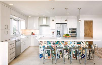 Donnez du caractère à votre cuisine grâce à un îlot à motifs