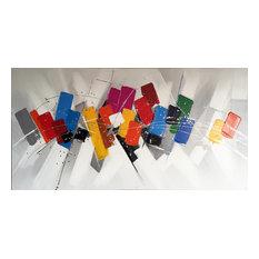 International Image & Canvas - Wall Decor Painting Saturday Morning Abstract - Paintings