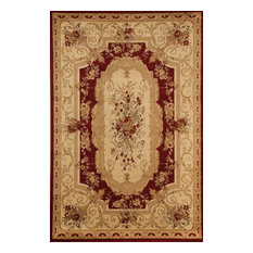 "Sorrento Aubusson Red, 6'7""x9'6"""