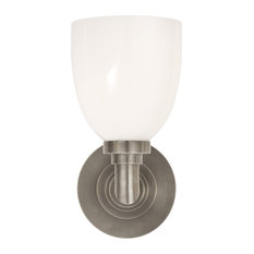 Wilton Single Bath Light, Antique Nickel