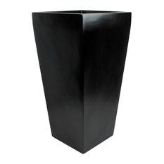 "Windsor Tall Square Planter, Black, 15""x15""x30"""