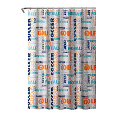 50 Most Popular Sports Themed Shower Curtains For 2019