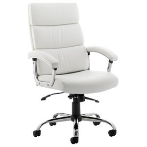Desire Executive Office Chair With Arms, White