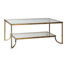 Uttermost 24540 Katina Gold Leaf Coffee Table