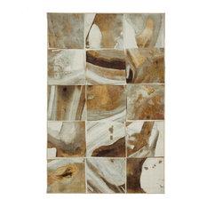 Mohawk Prismatic Marble Tile Gold Rug, 8'x10'