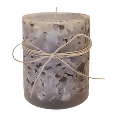 TImber Pillar Candle, Lemongrass & Sage