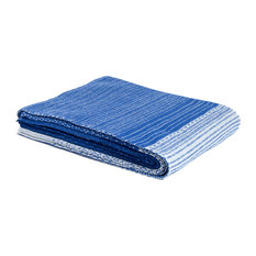 Eco Digital Ombre Throw, Cobalt Blue