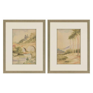 Paragon Scenic Traditional Natural Vista II Pack of 2 Wall Art