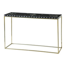 """Wooden Black And White Shell Console Table 46"""" W X 31"""" H"""