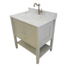 Privy Pine Products Oak American Shaker Vanity White 36 X18 75. Bathroom ...