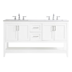Bathroom Vanity Sink Chest Traditional Antique Double Brushed Nickel