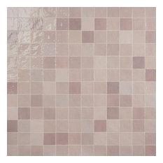 Kingston 4 in x 4 in Polished Ceramic Tile, Pink